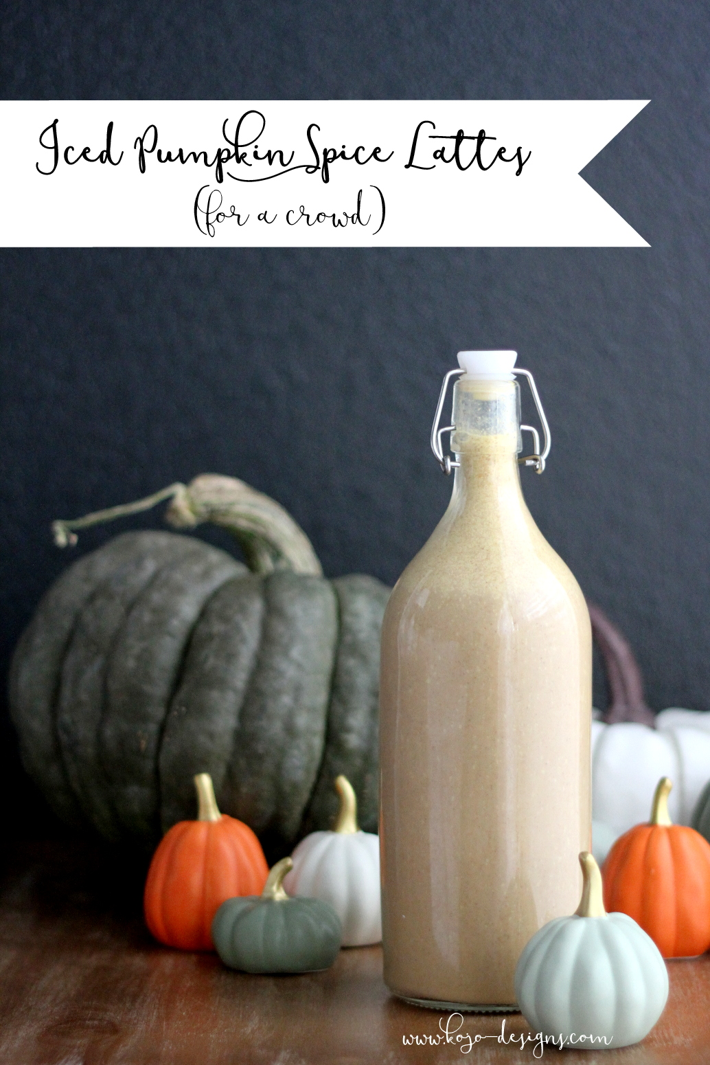 Iced Pumpkin Spice Lattes for a crowd (a recipe!)