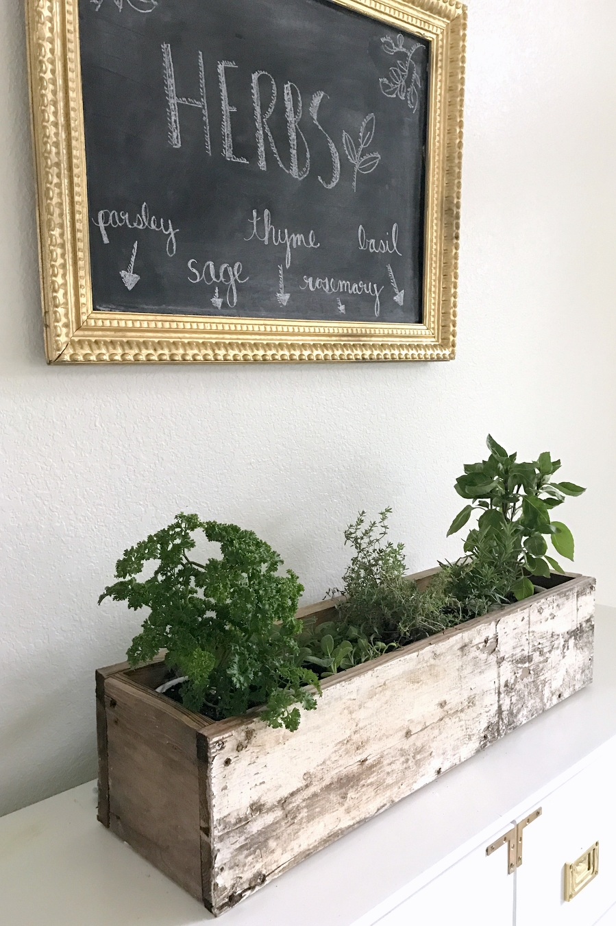 Best 20 Herb Garden Design 2017: DIY Wooden Herb Planter Box
