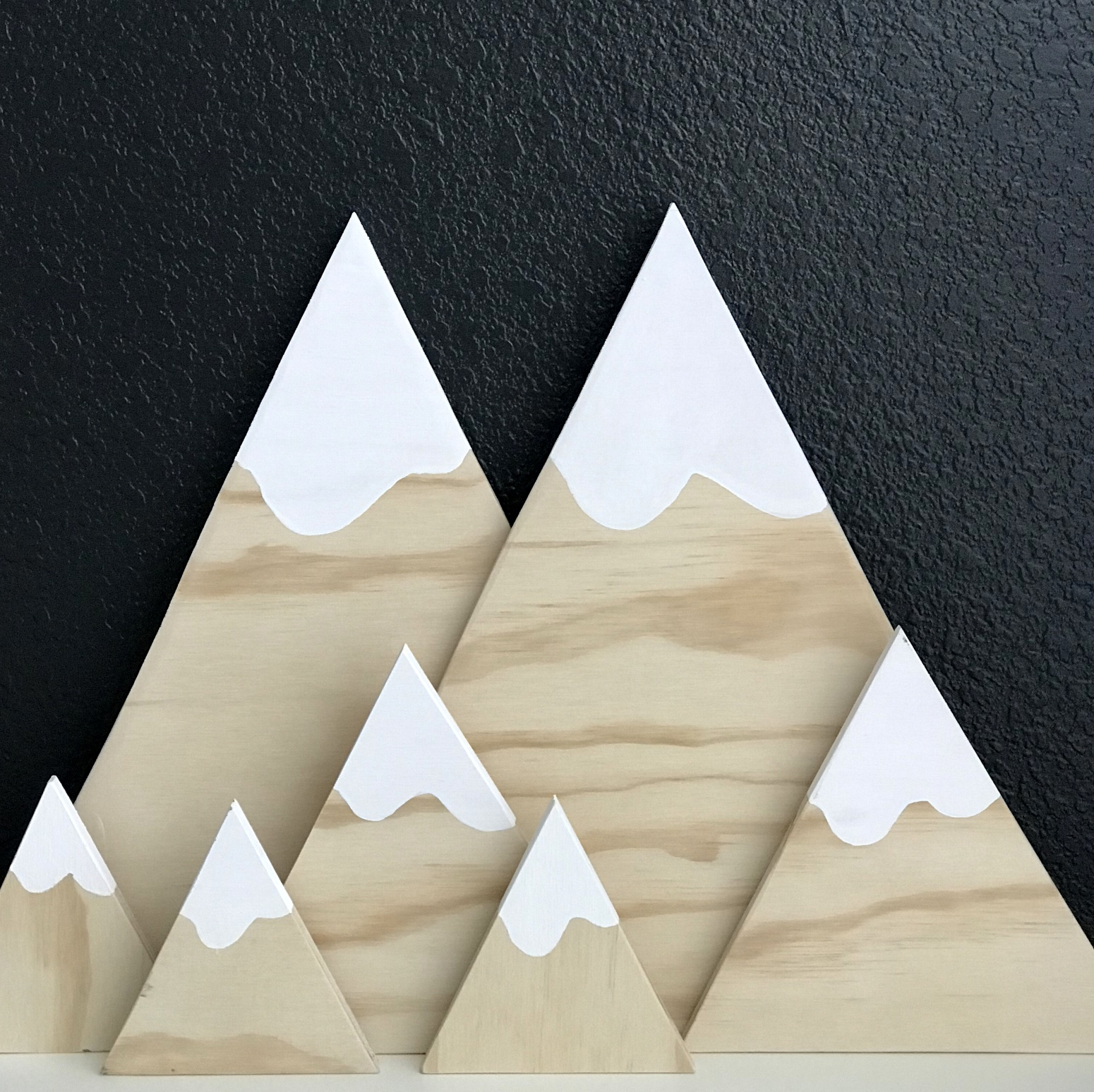 DIY wooden mountains