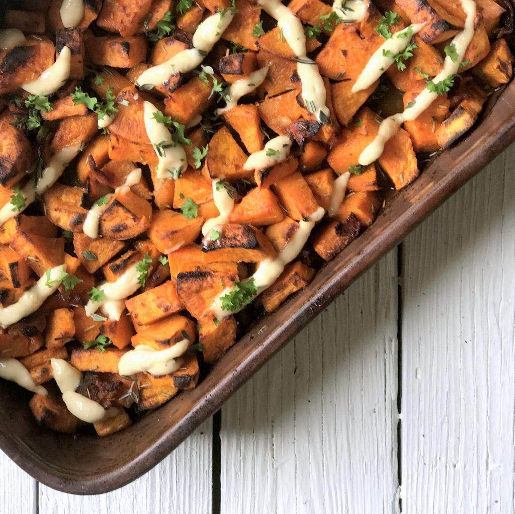 crispy spicy sweet potatoes