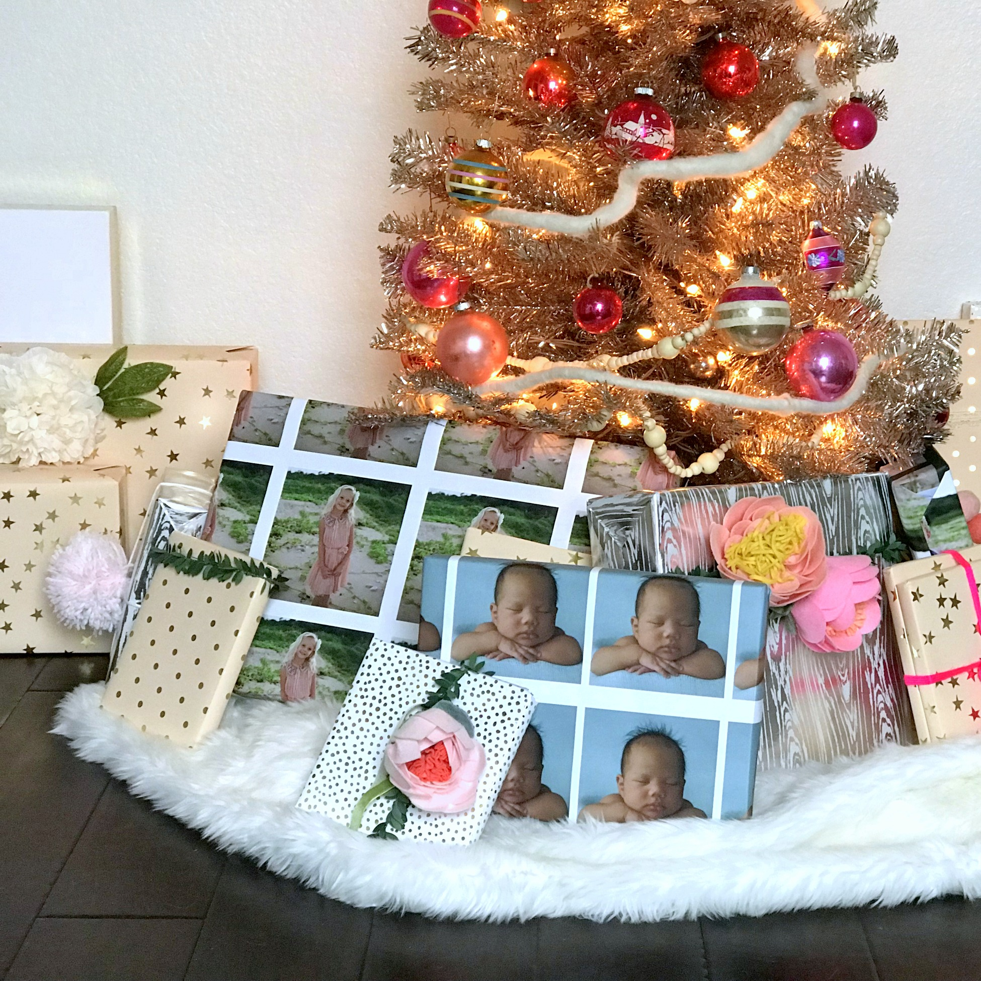 christmas gift wrap idea- picture wrap!