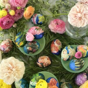 the most beautiful DIY easter eggs
