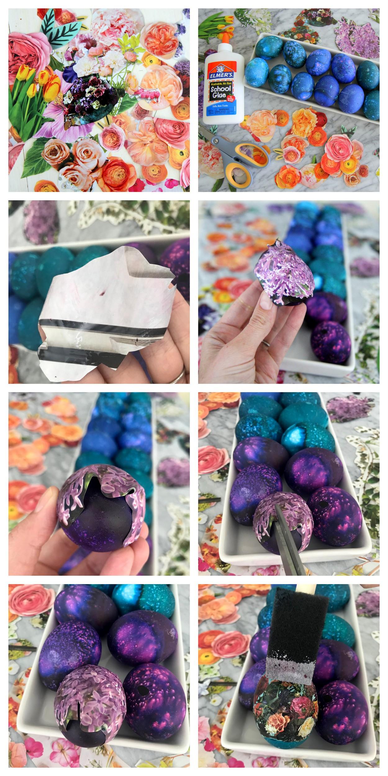 the prettiest DIY floral easter eggs
