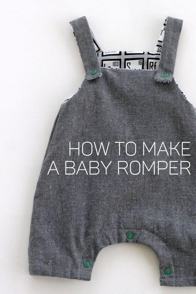 how to make a romper for a baby boy