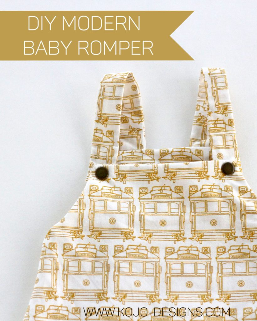 how to make a modern baby boy romper