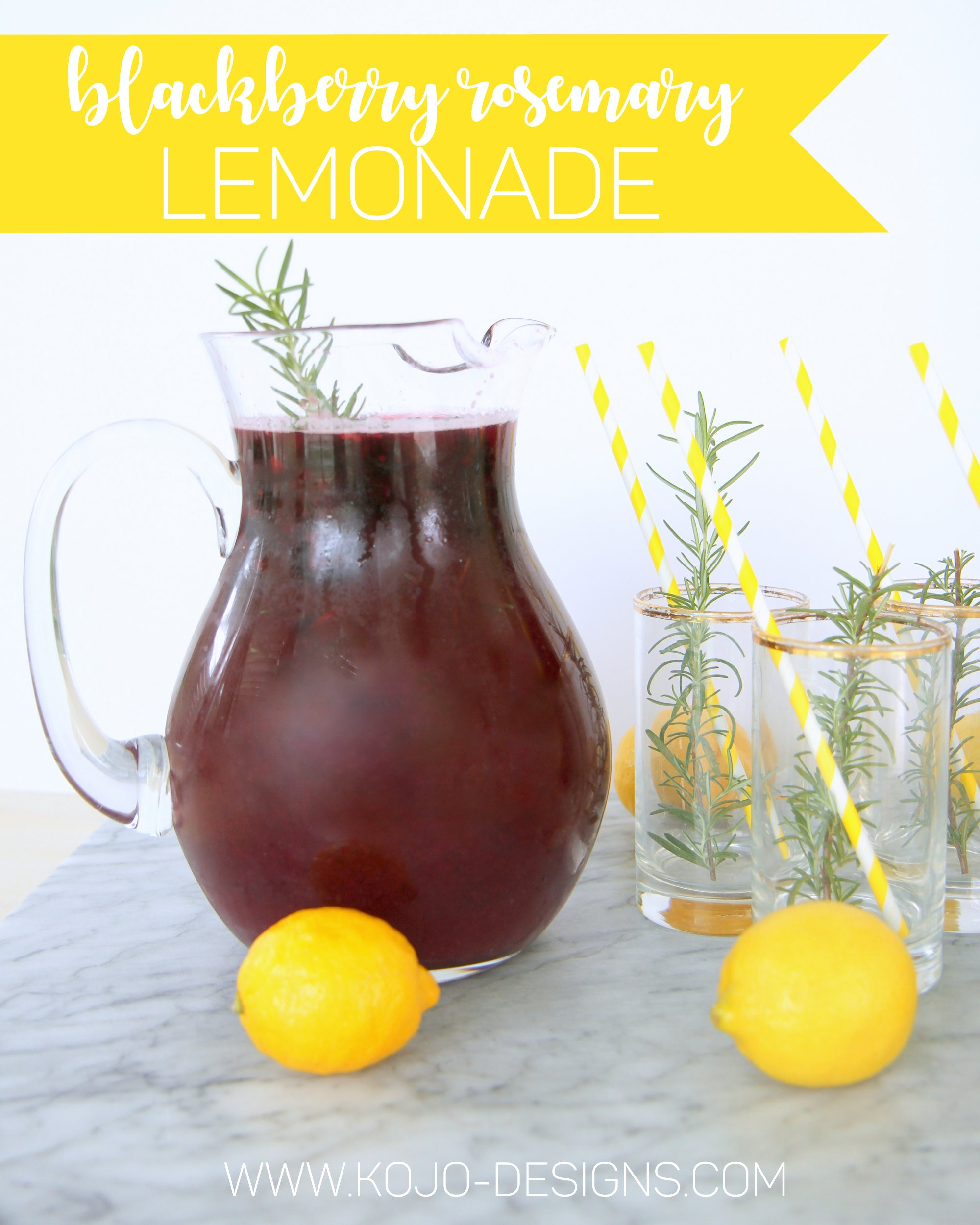sparkling blackberry rosemary lemonade recipe (the perfect addition to brunch, or to dinner on the patio!)