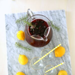 blackberry rosemary sparkling lemonade