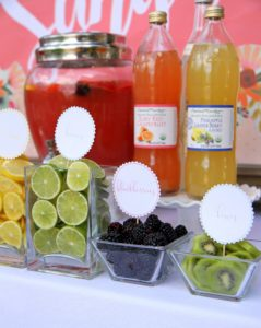 Sangria Bar- the prettiest drink station for summer parties, showers, and weddings