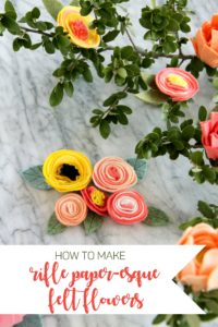 how to make Rifle Paper Co. inspired felt flowers