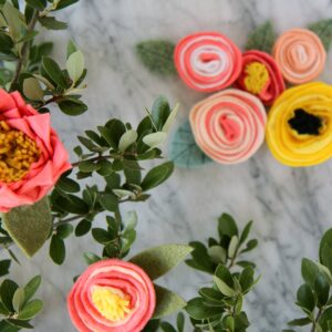 how to make rifle paper inspired felt flowers