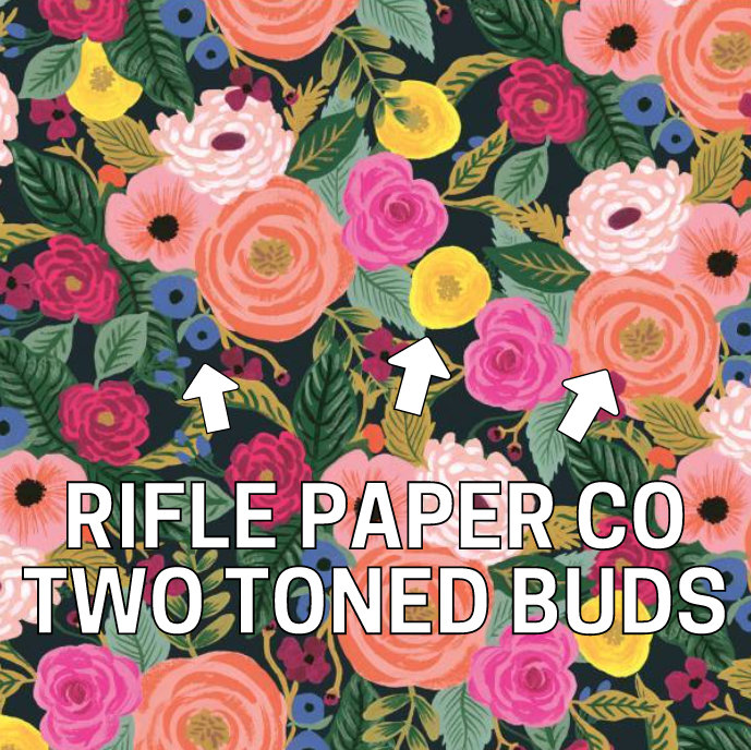 My inspiration- these Rifle Paper Co two toned buds!