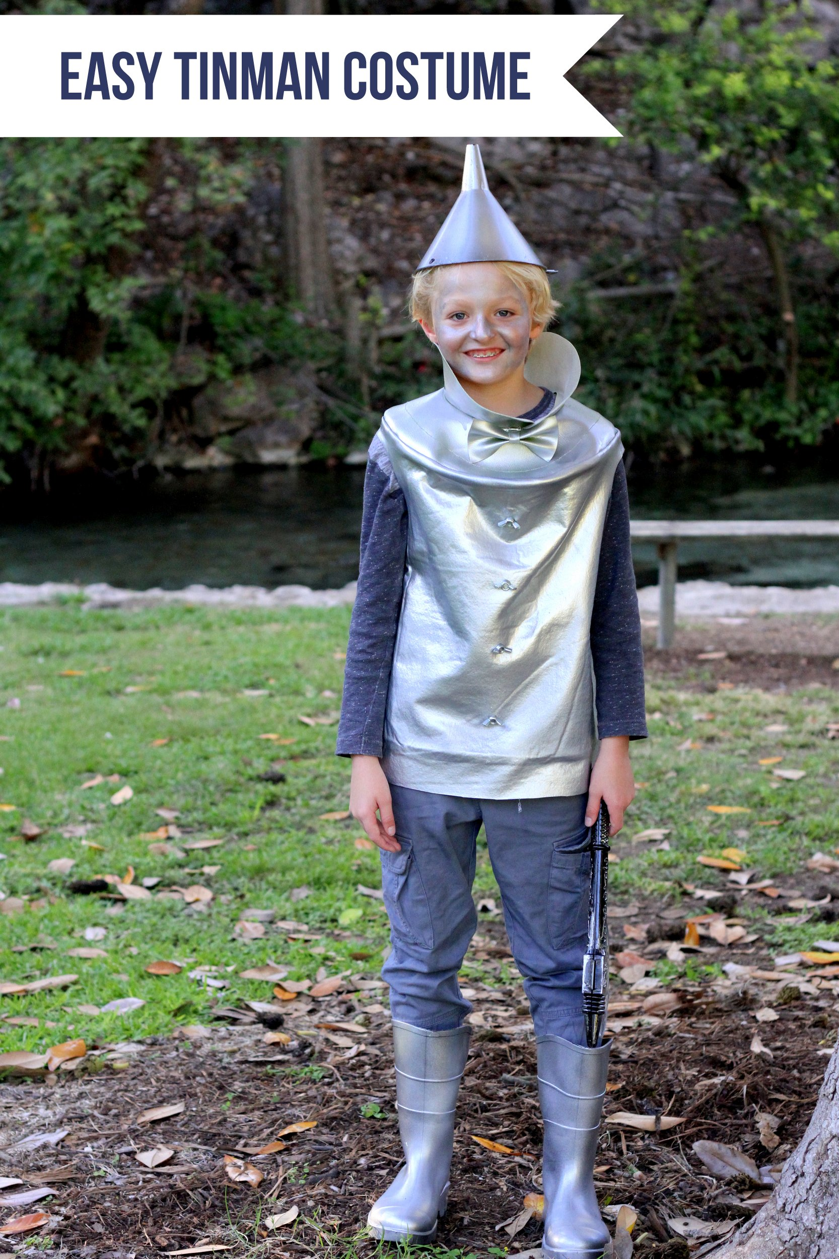 Easy Wizard of Oz Halloween Costumes- Tinman