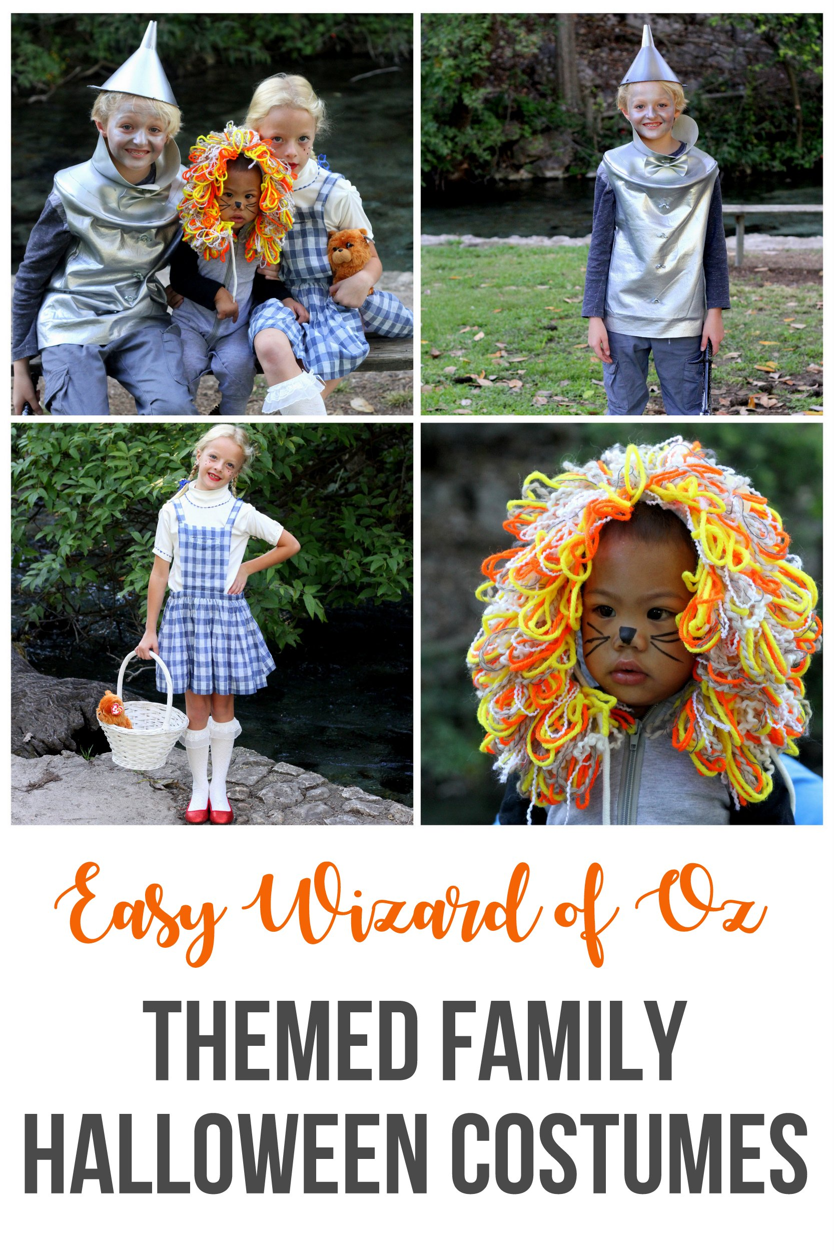 family halloween costumes easy wizard of oz costumes