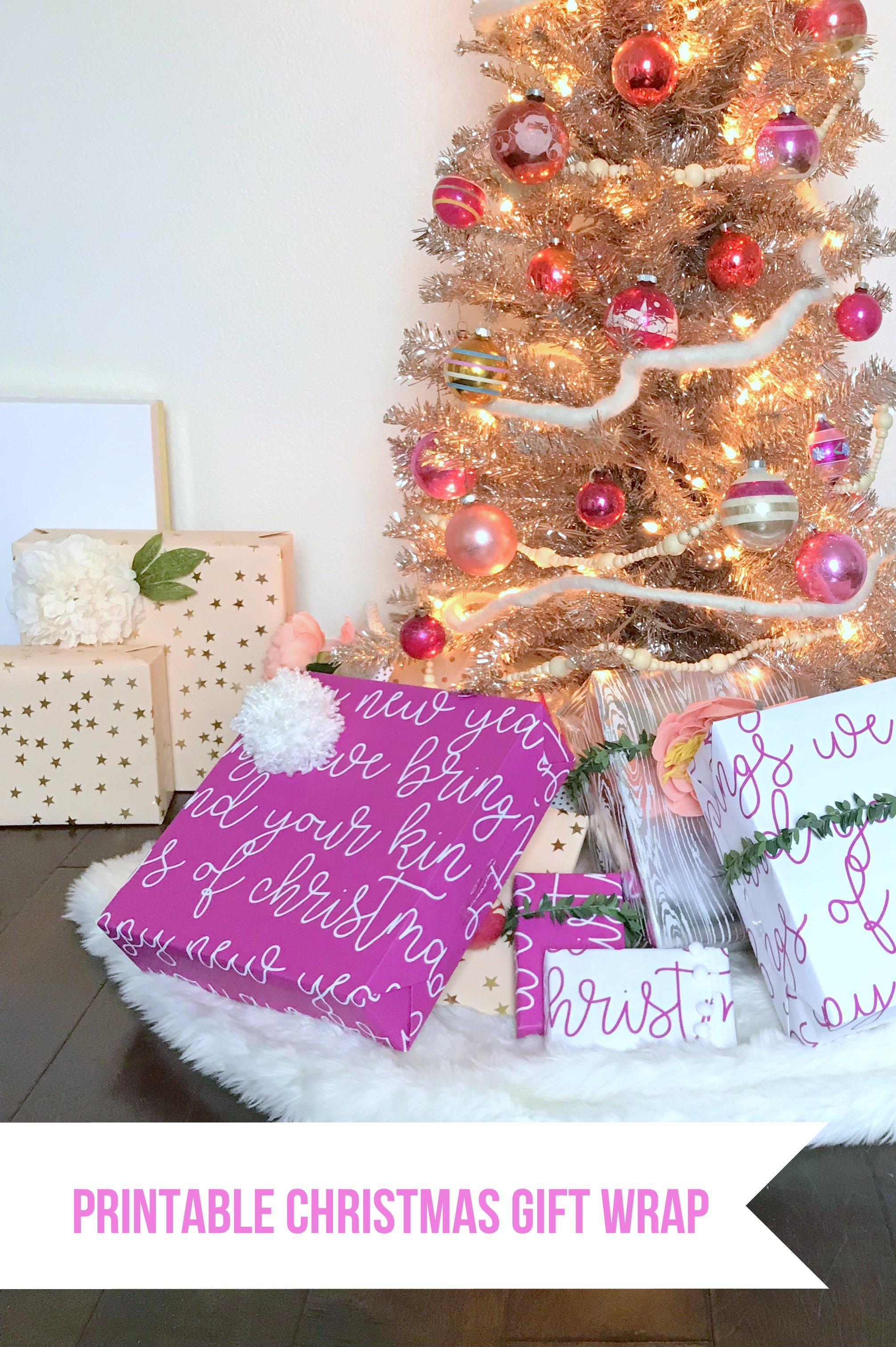free printable christmas gift wrap