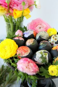 gorgeous floral easter eggs