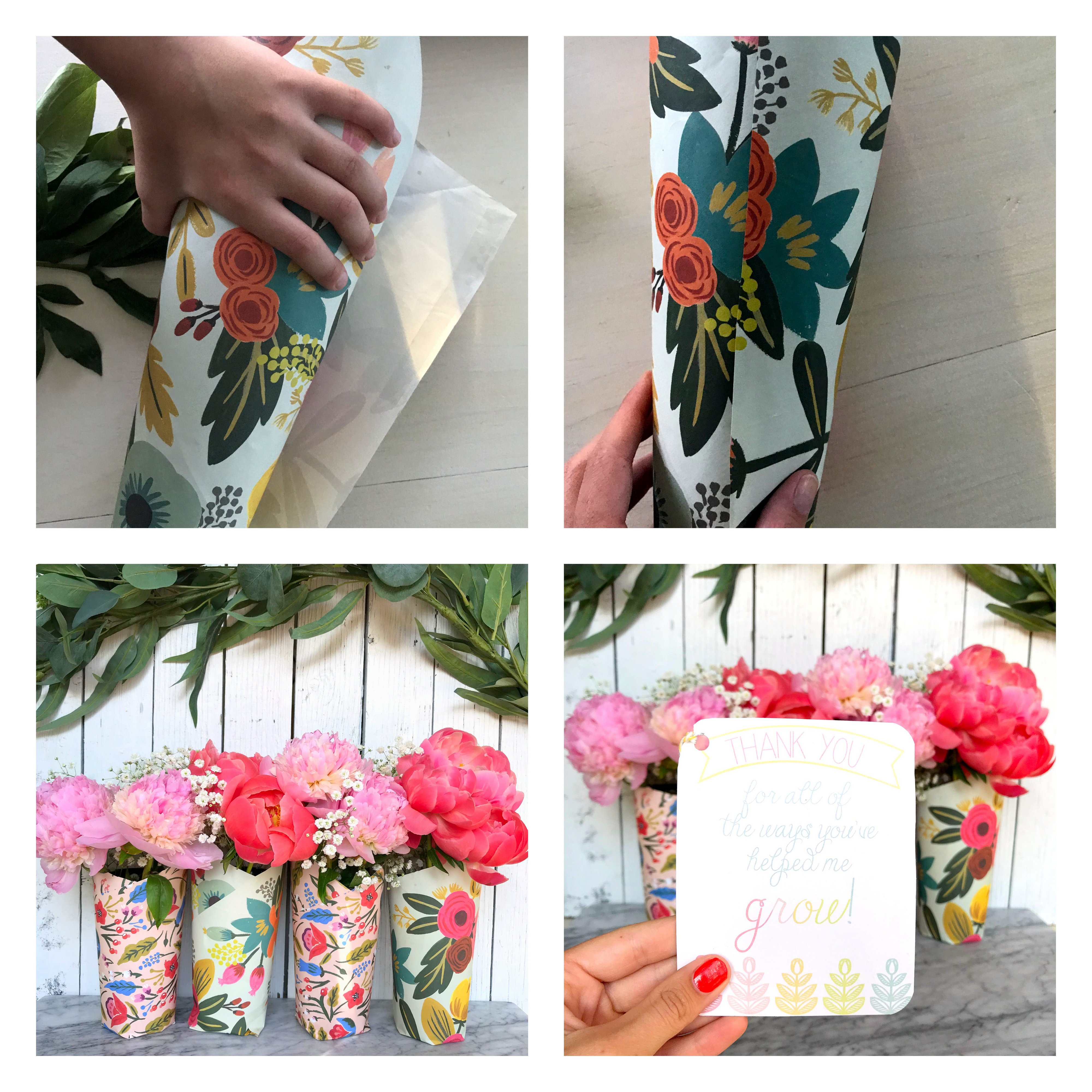 How to make pretty wrapped bouquets.