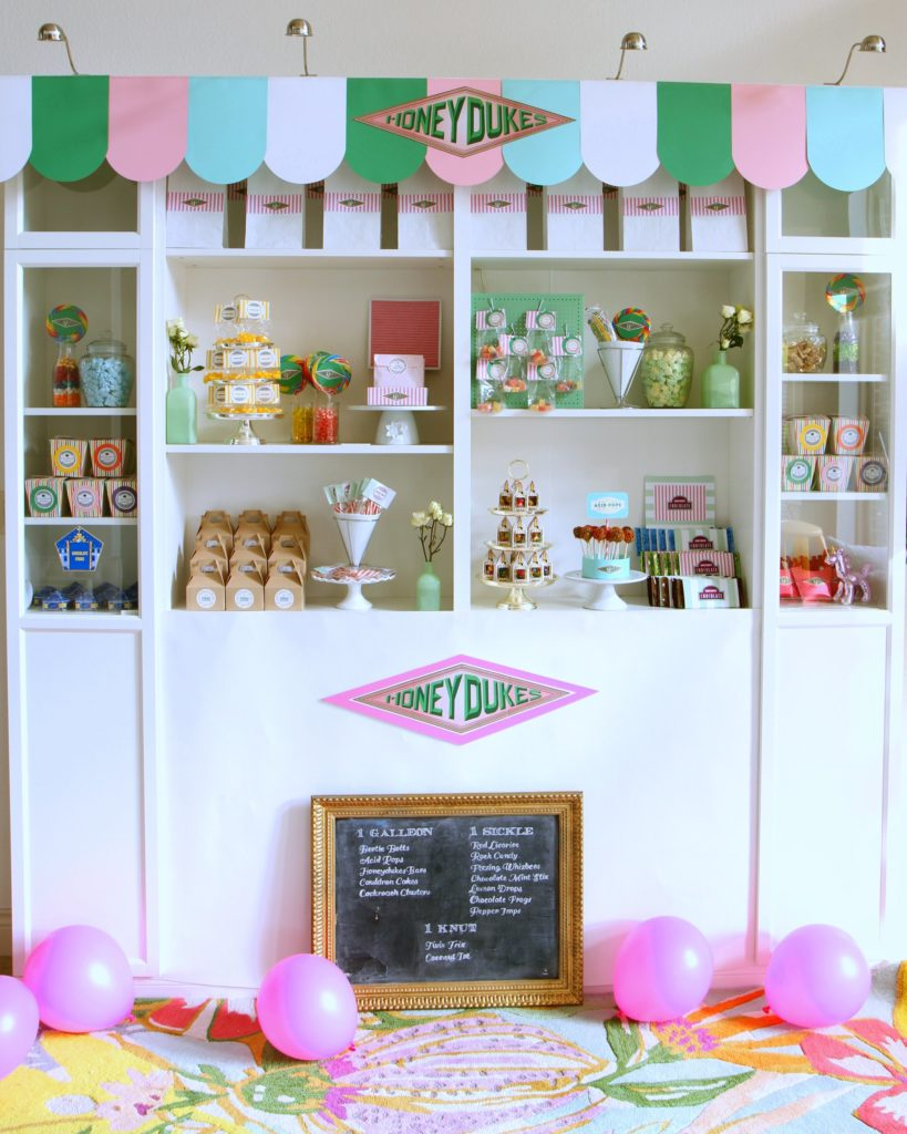 how to make Honeydukes Sweet Shop for a Harry Potter Party