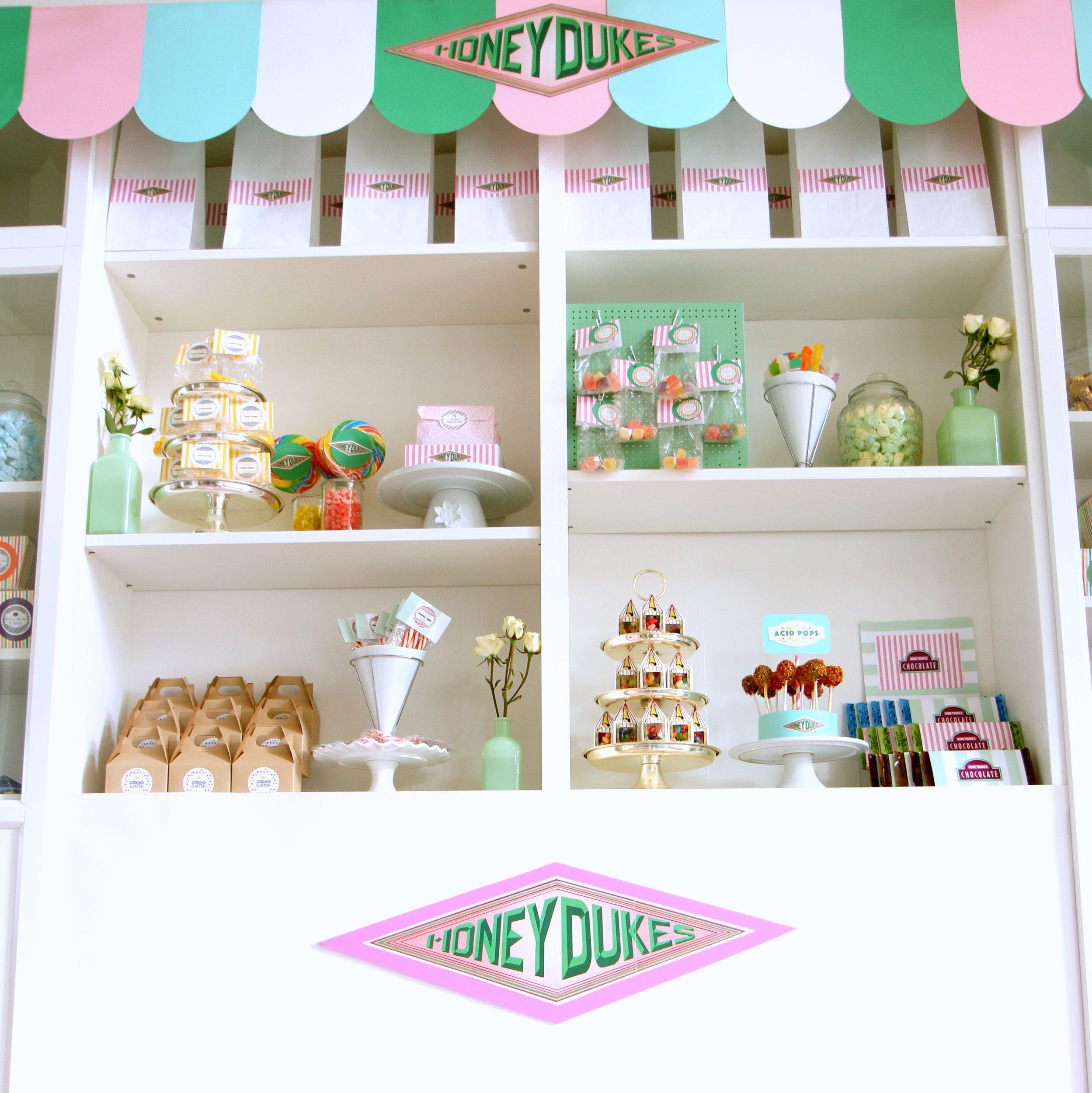 harry potter birthday party- honeydukes sweet shoppe