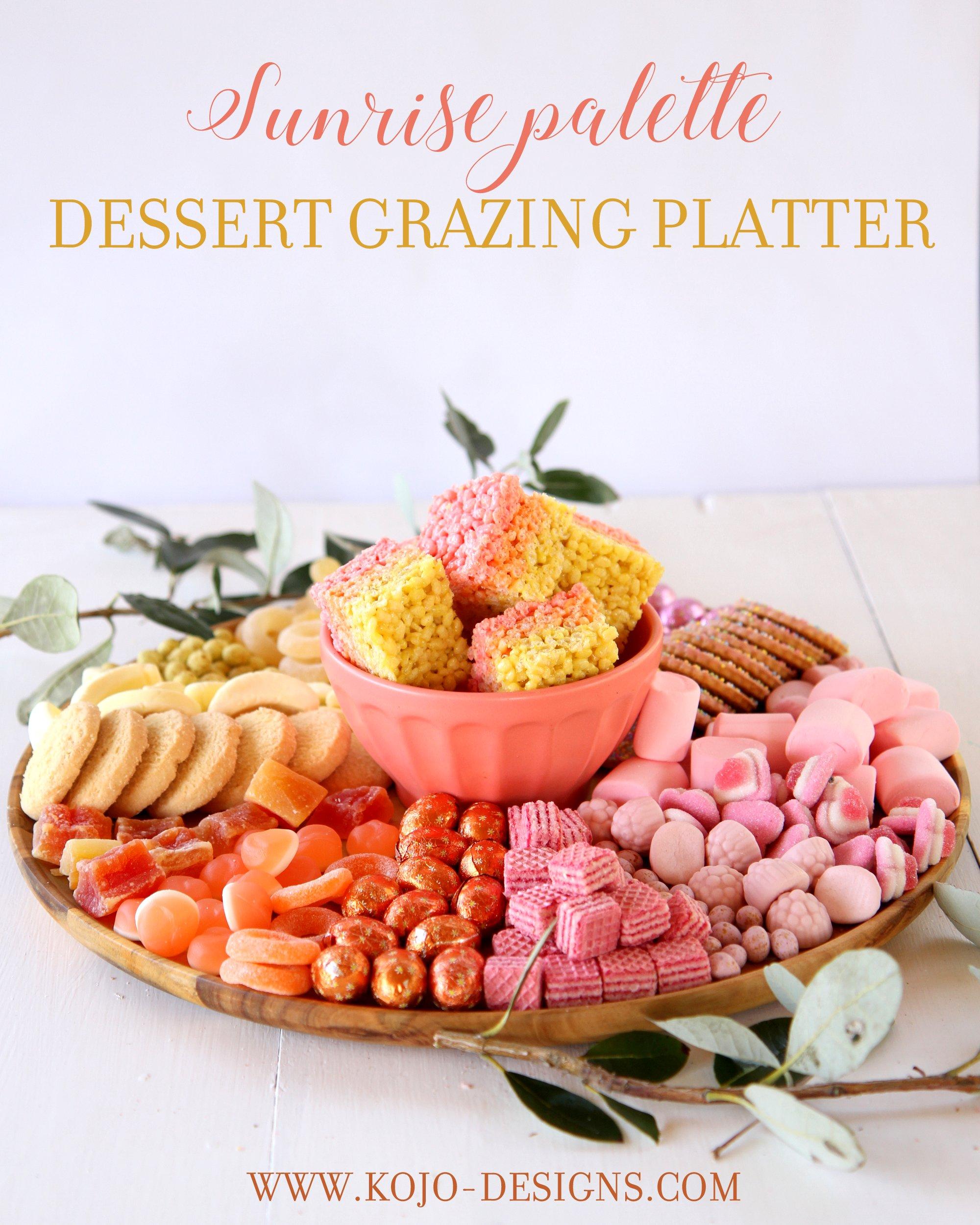 ombre sunrise palette dessert grazing platter