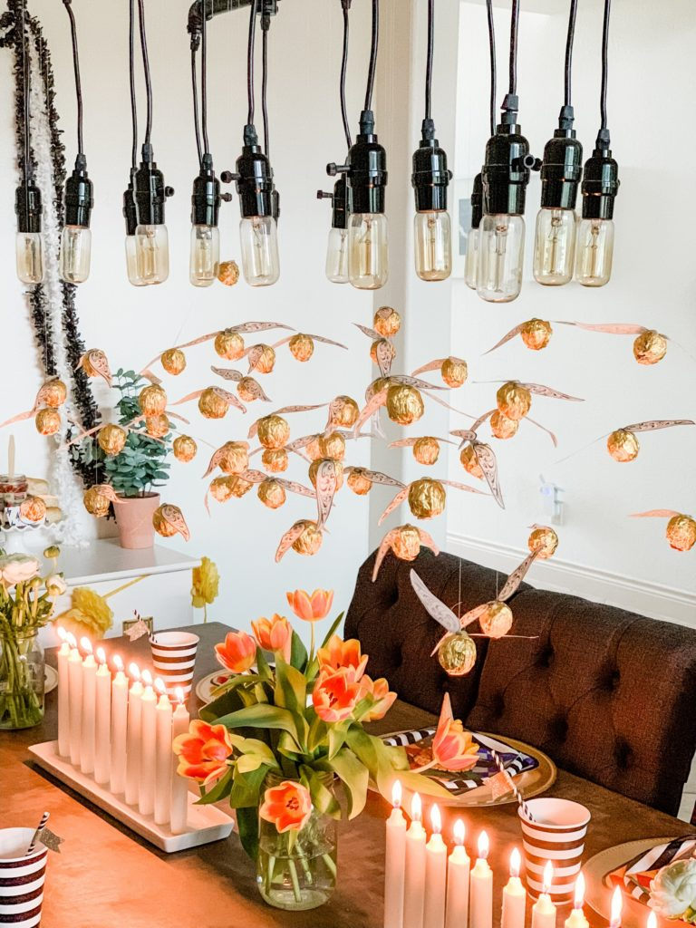 harry potter kid's party decorations- floating golden snitches