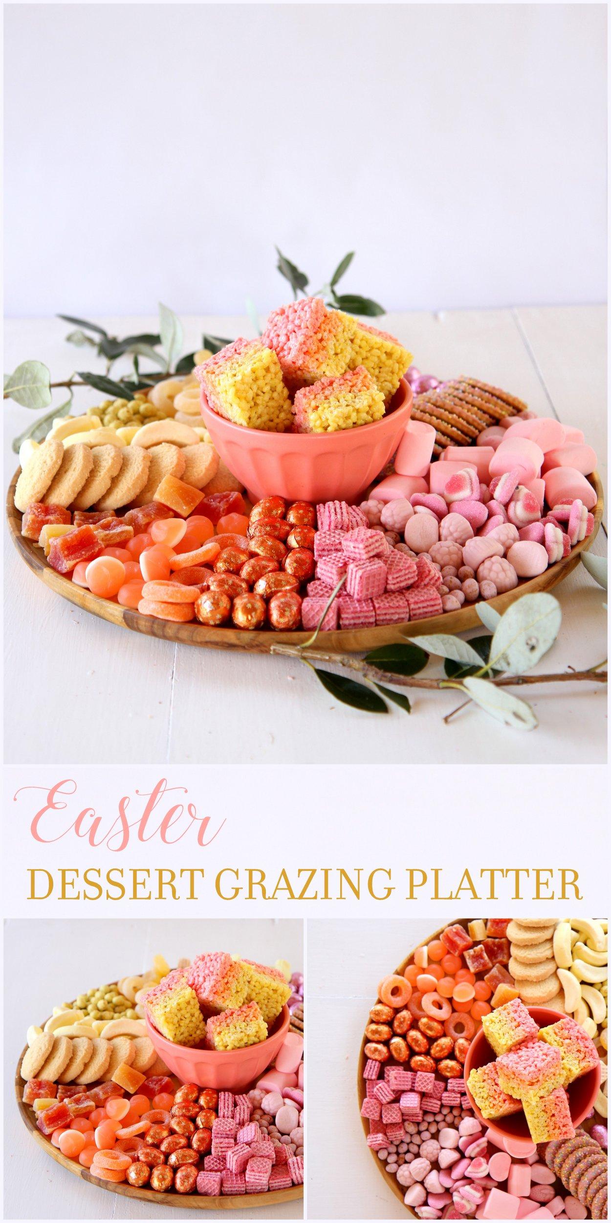 ombre easter dessert grazing platter