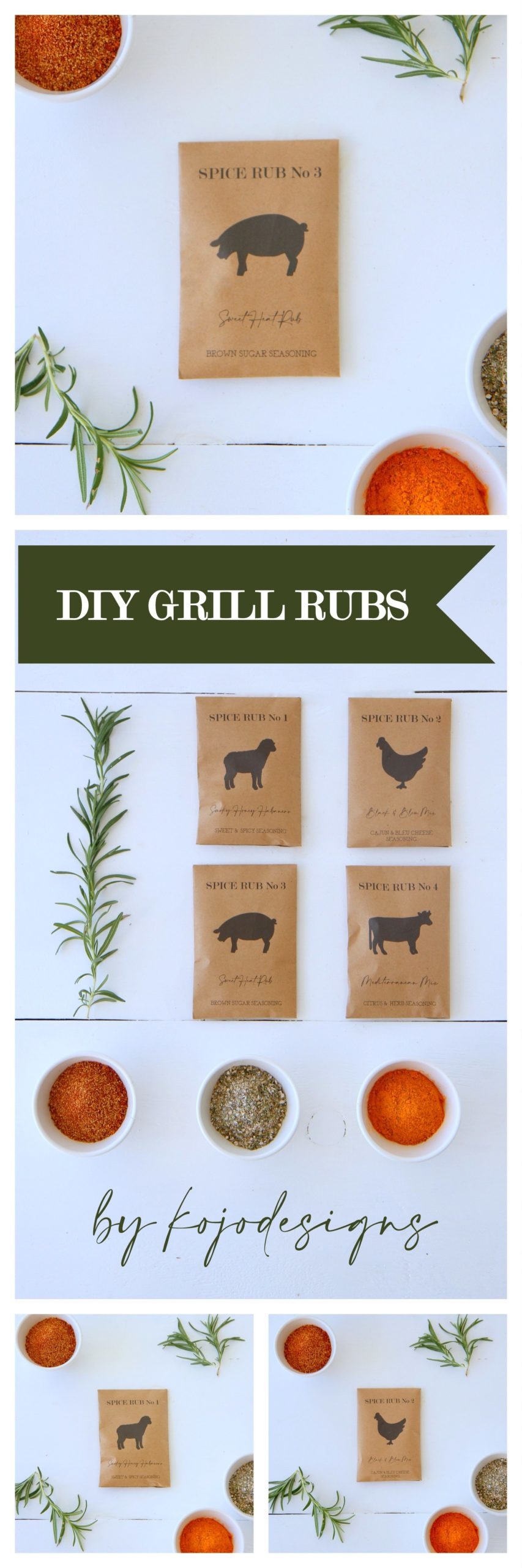 DIY grill rubs for Father's Day (with FREE printable)