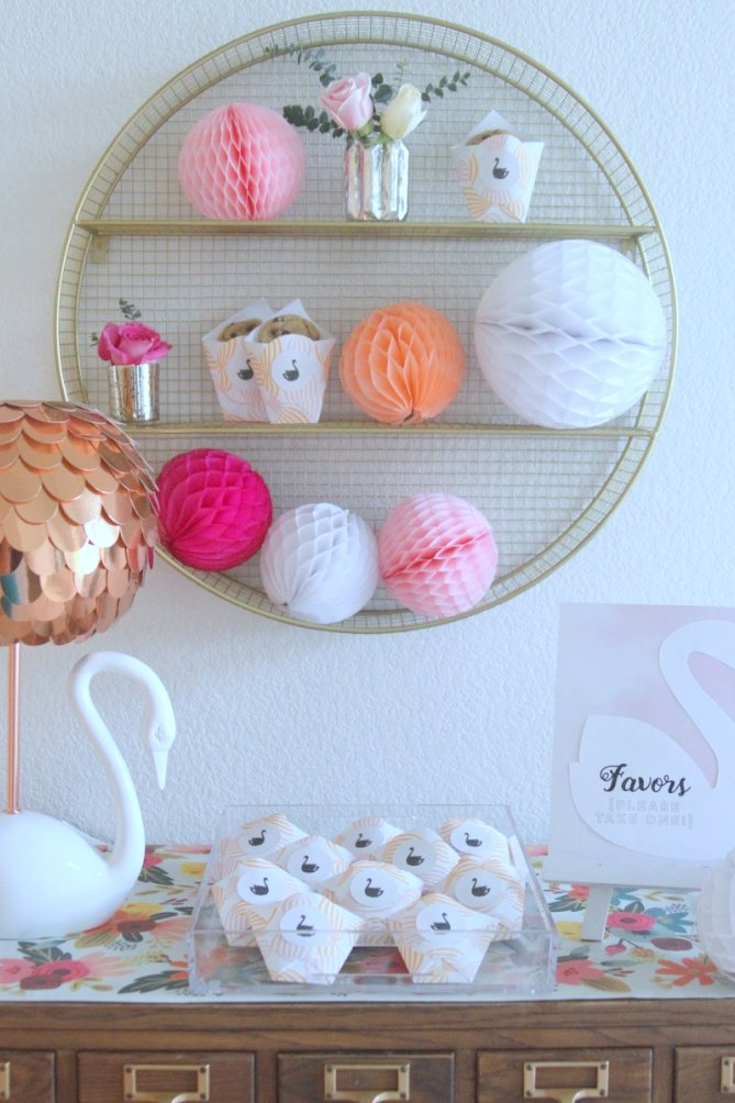 the prettiest swan themed baby shower