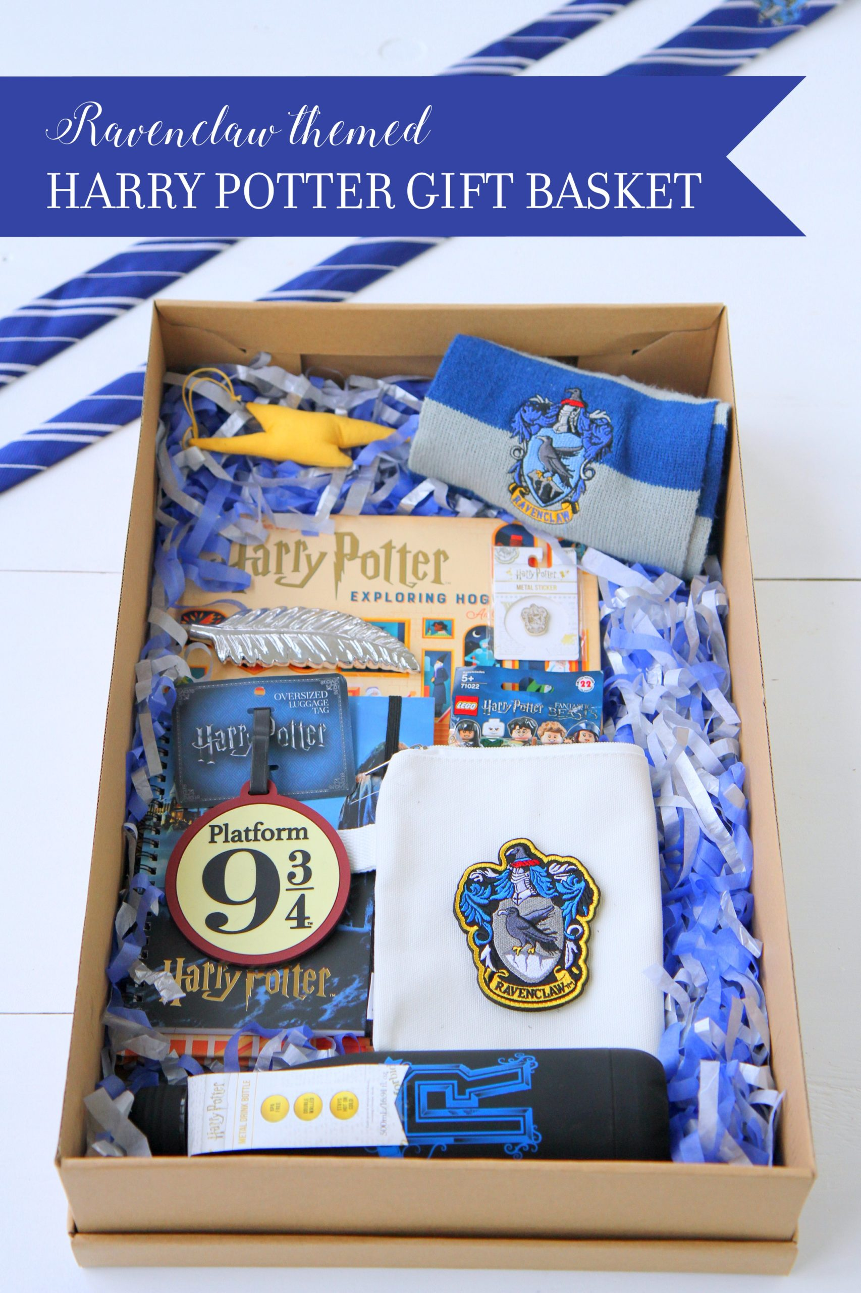 harry potter gift basket (ravenclaw themed)- and a whole list of HP gift ideas