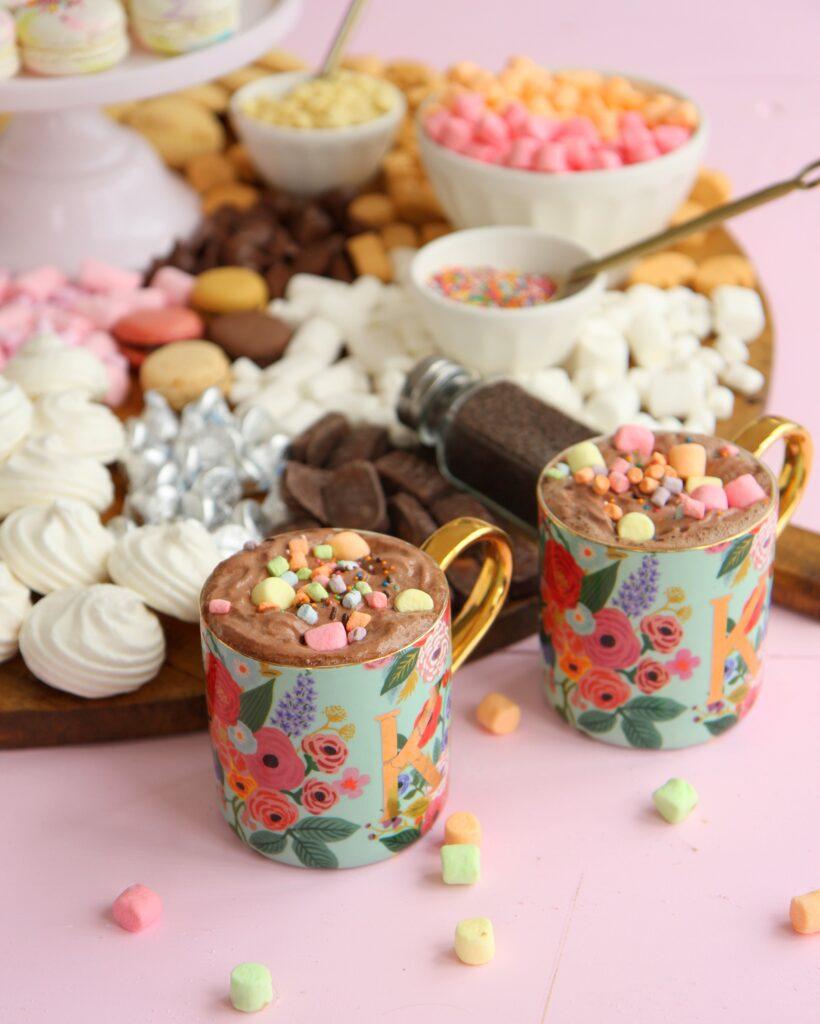 hot cocoa charcuterie dessert board