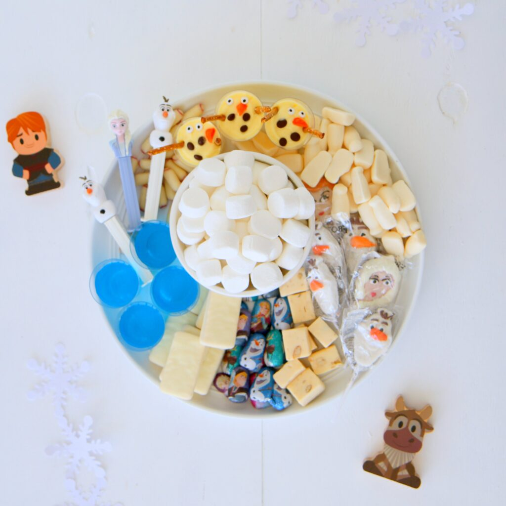frozen themed grazing platter