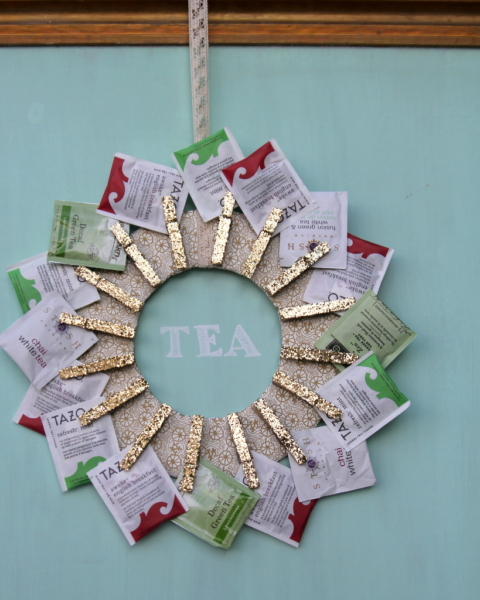 Handmade Gift Idea Diy Tea Wreath Kojodesigns