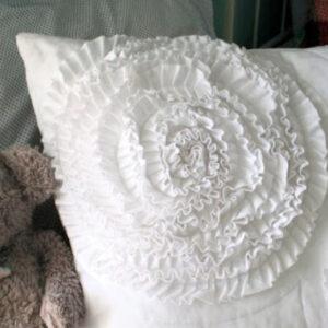 west elm inspired ruffle pillow