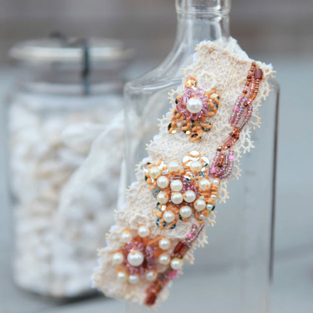 DIY anthropologie knock off bracelet