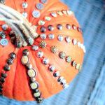 metal tack studded pumpkin