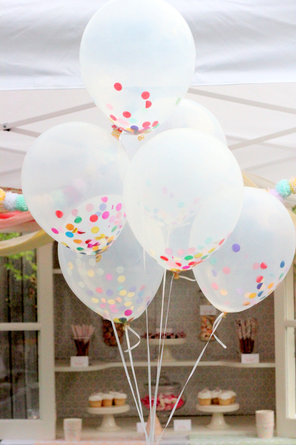 Confetti Filled Balloons - 10 Easy Party Ideas - #diy #party #birthdayparty #babyshower #partydecor #diydecor