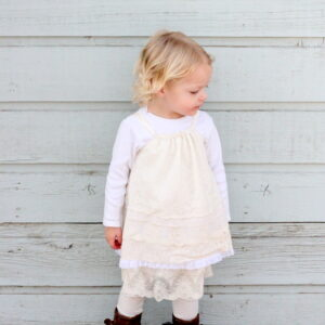 layers of lace dress tutorial