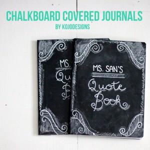 teacher appreciation gift idea- chalkboard covered journals