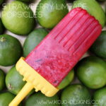strawberry limeade popsicle