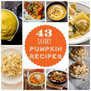 forty three fabulous savory pumpkin recipes