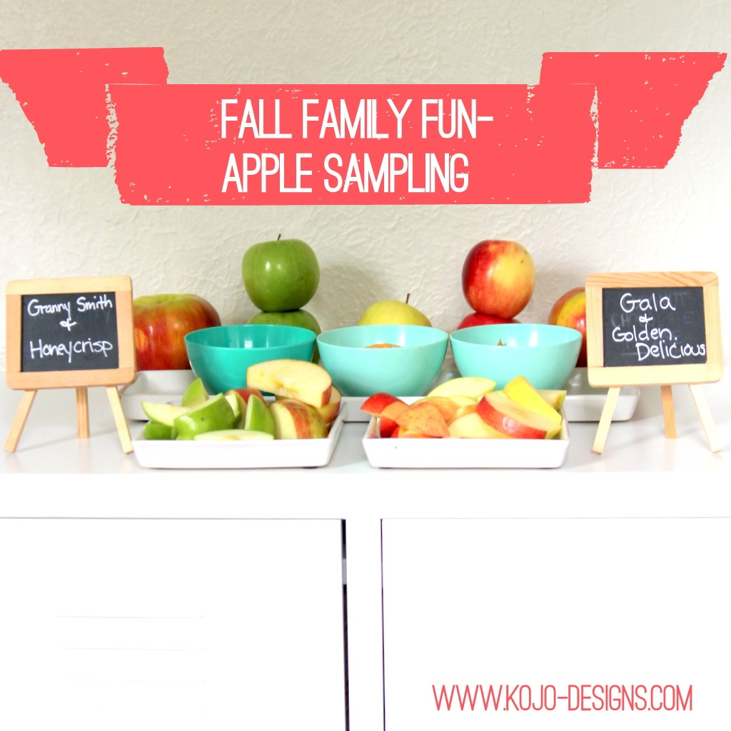 fall family fun- apple sampling (free printable chart included)