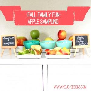 fall family fun- apple sampling (free printable chart included)
