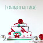 handmade painted gift wrap