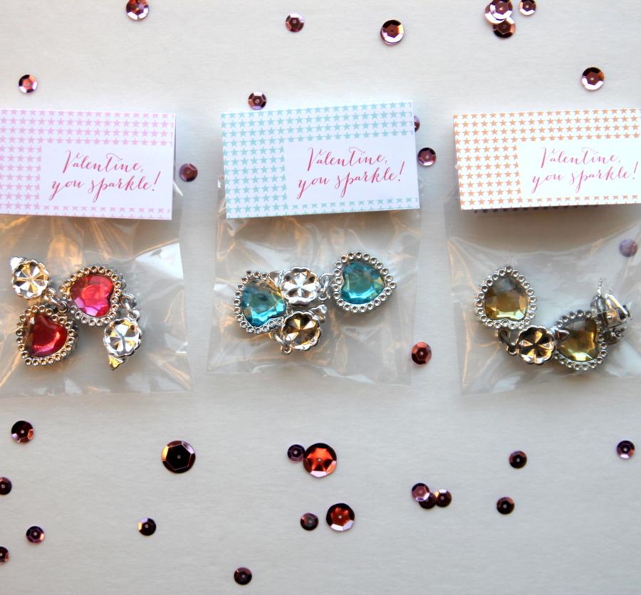 free printable valentine labels- 'Valentine, you sparkle!'
