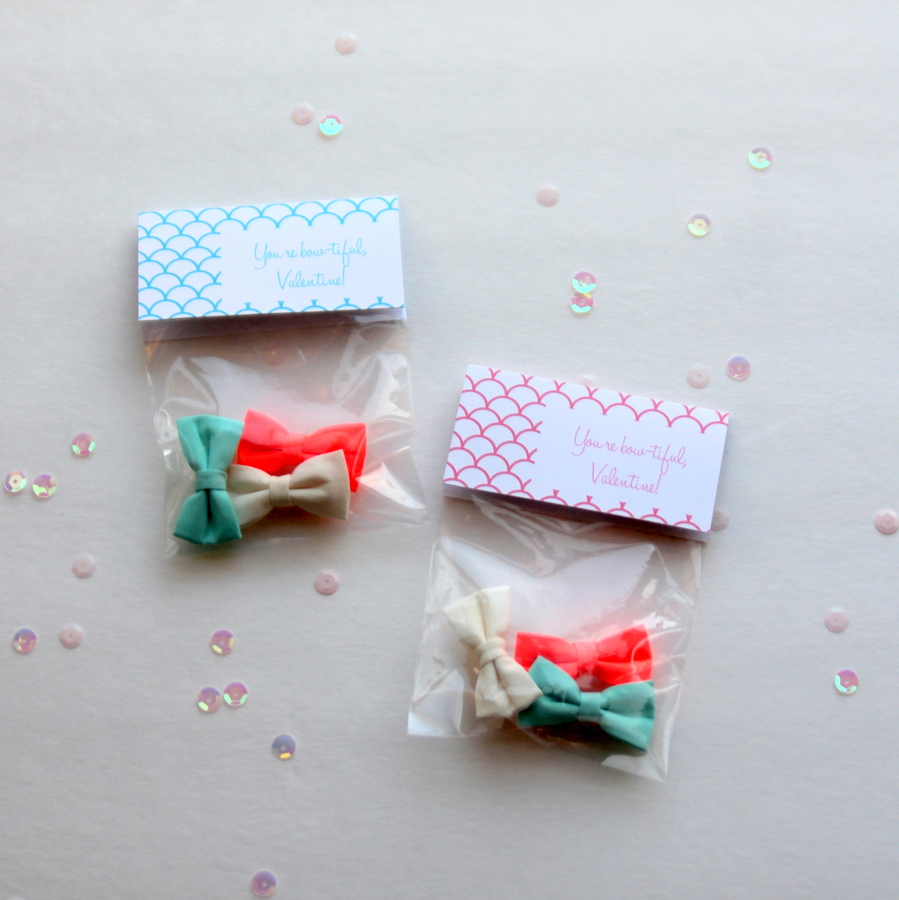 free printable valentines- you're 'bow-tiful' labels