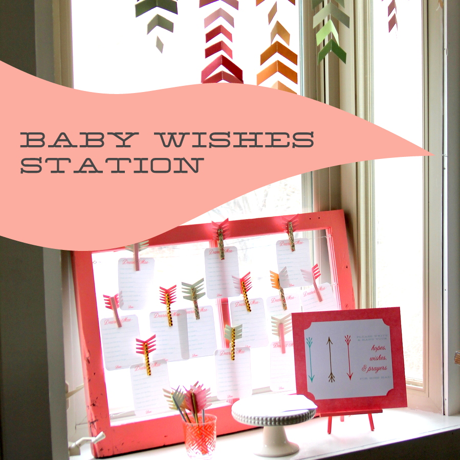 hopes and wishes baby shower station