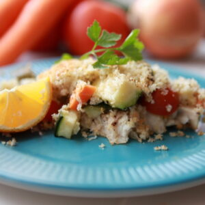 mild white fish with veggies- this recipe is the perfect intro to seafood