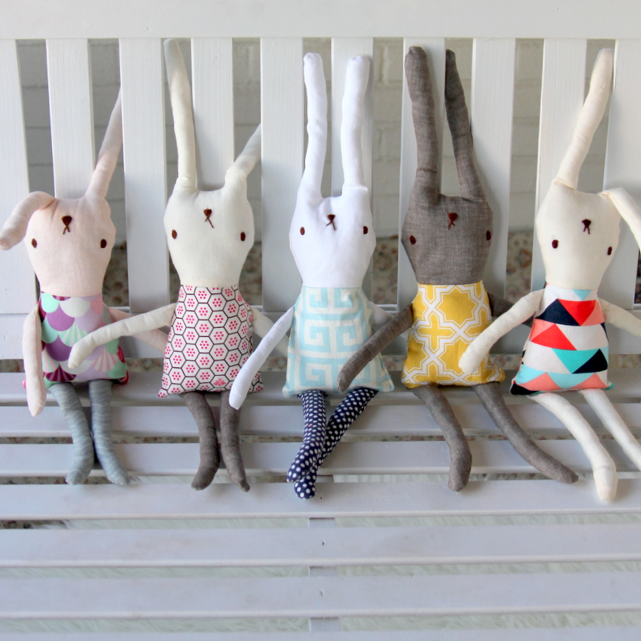 DIY bunny softies