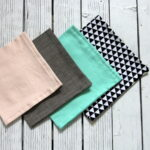DIY geometric reversible cloth napkins