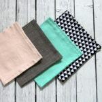 DIY geometric reversible cloth napkins
