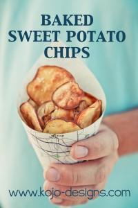 Baked Sweet Potato Chips at kojo-designs